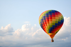 Hot Air Baloon (Federico Zanetello) Tags: blue sky italy during airport air baloon aeroporto mongolfiera vicenza airballon hotairbaloon thiene rozzampia airportbynight