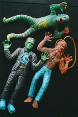 1970's AHI Monster Jigglers (Donald Deveau) Tags: werewolf toys rubber frankenstein ahi wolfman vintagetoy creaturefromtheblacklagoon universalmonsters azrak jiggler vintagemonster ahicreature
