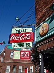 The Happy Gillis cafe & hangout (ricko) Tags: signs corner restaurant kansascity missouri cocacola bestbreakfastintown happygilliscafehangout