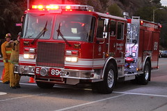 LAFD 89 (GSDMOMx4) Tags: red lafd firetruck heroes firemen firedept siren firefighters lapd code3