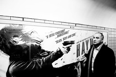 London Underground (simon clare photography) Tags: street travel blackandwhite bw white black sexy london girl monochrome contrast digital reflections underground poster mono li blackwhite slick cool nikon foto fotografie photographie unitedkingdom candid ska shades explore shooting contract ng ho fotografia tones fotografi  colourless fotografa fotografering larawan   ffotograffiaeth sary picha  diigital d40 consequat ljsmyndun fotoraflk fotograafia igbo fotografija valokuvaus sawir   fnykpezs fotografovn fotografana simonclare  fotografovanie pagkuha grianghrafadireacht simoncphotography  sclarephoto whakaahua  kujambula ftoyiya argazkilaritzac