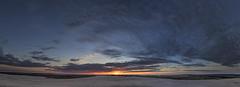 No. 0972 Rbjerg Mile Sunset Panorama (H-L-Andersen) Tags: sunset sky panorama sun moon rollei desert dunes 1740mm rbjergmile manfrotto 6d landoflight canoneos6d hlandersen