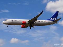 SAS Scandinavian Airlines --- Boeing B737-800 --- LN-RRF (Drinu C) Tags: plane heathrow aircraft sony boeing sas dsc scandinavian lhr 737 egll sasscandinavianairlines lnrrf hx100v adrianciliaphotography