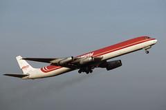 N959R.PIK1989copy (MarkP51) Tags: aircraft aviation douglas emery airliners prestwick pik dc8 egpk n959r