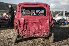4L... (Arthur Janin.) Tags: arthur janin leica ag camera sl typ 601 fullframe mirror less stock car destroy destruction derby 4l renault voiture 205 summilux 50 50mm f14 asph vosges france race racing racer course champ crash trash back light natural no filter