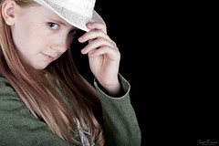 Hip with a Hat (Kurt Evensen) Tags: hat portrait girl contrasts people hip kid eyes pose children kids portraits look faces beauty