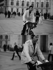 [La Mia Citt][Pedala] con il BikeMi (Urca) Tags: milano italia 2016 bicicletta pedalare ciclista ritrattostradale portrait dittico bike bicycle nikondigitale mir biancoenero blackandwhite bn bw nn 89157 bikemi bikesharing