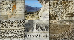 on the beach (Edinburgh Nette ...) Tags: erosion collages sandstone elgol sky october16 sedimentary rocks geology honeycomb weathering