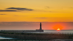 Sun Awakes Roker (munkehmans) Tags: beach coast coastline lighthouse northeast northeastengland northern roker rokerlighthouse rokerpier sea seaburn seaside subderlandinternationalairshow sunderland sunrise tyneandwear wearside