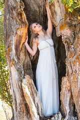 Emily (austinspace) Tags: woman portrait spokane washington model slavin conservation area park blond blonde lipstick maiden fairy tale princess flower dress