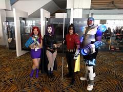 Awesome Teen Titans! (blueZhift) Tags: youmacon 2016 cosplay costume anime manga comics fantasy scifi detroit michigan cartoons starfire raven robin cyborg