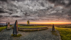 Sunrise On Pale Heights (HSS!) (Rob Pitt) Tags: hss sunrise hdr delamere paleheights circle stone light painting