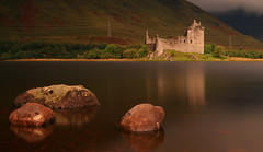 Morning Light on Kilchurn Castle (Andy Watson1) Tags: morning light kilchurn castle argyll bute argyllbute loch awe scotland scottish highlands mountains hill hills rocks rock smooth long exposure water uk united kingdom great britain british green bushes tree trees cloud fog dark shadow mood atmosphere atmospheric september autumn slope slopes history historic nature cloudy landscape view scenic scenery countryside canon 70d sigma sky walking cold flickr sunshine world wow reflection reflections reflect mirror warm warmth dalmally
