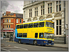 R308 LHK, Rugby (Jason 87030) Tags: catteralls dublin bus yellow blue livery rugby southam doubledecker sony alpha a6000 ilce nex shot watwickshire 2016 june town