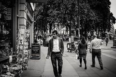 Man Smoking (Nasir Khan) Tags: youngman style smoking londonstreets blackandwhite blackwhite smokinginstyle suit streephotography stphotograpia