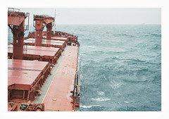 014_03 (jimbonzo079) Tags: bay bengal india asia mv anchorage bulk carrier bulker cargo greek hellas marine maritime naval utm work industry industrial trip travel world view vintage old film art deck above steel life crane colour color 2015 negative 35mm scan analog ocean sea water bad weather mood ship vessel boat onboard canon ae1 fd 50mm f18 lens slr kodak portra 160 outdoor scape seascape portra160 newportra160 kodakportra160 newkodakportra160