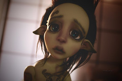 Mousse the Guardian Elf of the forest (Vali.Tox.Doll) Tags: lou nefer kane neferkane circus circuskane ckdoll doll bjd balljointeddoll ball jointed green skin wig fur elf tattoo tatoued