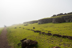 Orongo, centre of the 'birdman' era, in the mist (watershed96) Tags: rapanui orongo