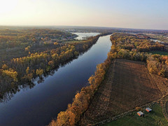 The Grand River (John Rothwell) Tags: n kent county michigan fall nature colors drone arial farm chauncy