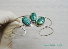 Bracelet (Mauro Cateb) Tags: silverjewellery silver bracelet scarab jewellery jewelry