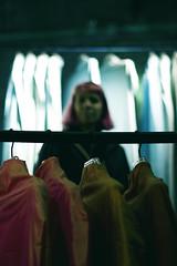 (helix.pomatia) Tags: colors colorful portrait portraits portraiture lights light streetlight street house girl friend friends nikon d3100 digital 50mm persone red girls pink biennale art arte venice venezia october autumn