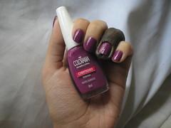 Noite Quente (Colorama) (Daniela nailwear) Tags: noitequente colorama roxo cremoso esmaltes mofeita