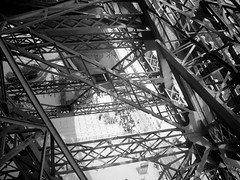 I ought to be jealous of the tower. She is more famous than I am.  Gustave Eiffel (LumenScript) Tags: eiffel tower paris architecture blackandwhite perfect photographer theperfectphotographer