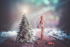 Christmas loading (RoCafe) Tags: christmas winter tree manipulation photomanipulation ps conceptual fantasy subrealism