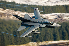 'Late Dive' (benstaceyphotography) Tags: lfa20t operational low flying lowlevel panavia tornado gr4 olf scottish borders sm winter valley glen snow nikon aviation tonka bomber vortices autumn tta