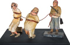 1960s Pirates of the Caribbean maquette - Prisoners and Pirate - front (Tom Simpson) Tags: piratesofthecaribbean disney disneyland 1960s vintage maquette sculpture pirate pirates imagineering vintagedisney vintagedisneyland