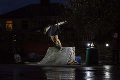 Alex Tomlinson - BS Smith (Sanderson19) Tags: skate skateboarder skateboarding long lens diy night photography tamron 2470 600d t3i skater boneless fs bs air smith blunt nose