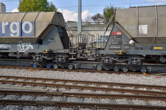 Hopper cars on the interchange tothe MBC on their way to a quarry outside Apples (pchurch92) Tags: switzerland morges hoppercar gravel mbc bam