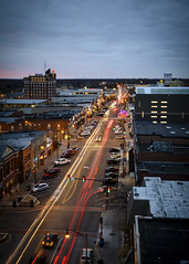 Downtown Columbia Missouri (Notley) Tags: downtown theroof missouri columbia columbiamissouri notley notleyhawkins 10thavenue httpwwwnotleyhawkinscom missouriphotography notleyhawkinsphotography boonebounty bocomo boonecountymissouri bluehour thebluehour architecture longexposure night nocturne evening sunset 2016 fall november