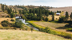 Time Ticks Slower Here (John Westrock) Tags: landscape rural farm bridge river colfax washington unitedstates us trees pacificnorthwest canoneos5dmarkiii sigma35mmf14dghsmart
