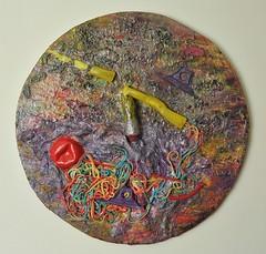 A pennello (Daniela Bellofiore Artista) Tags: arte quadri ininterni rotondo acceso colorato riciclo pittura scultura
