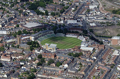 The County Ground in Taunton - home of the Somerset County Cricket Club - aerial (John D F) Tags: cooperassociates countyground somersetcricketclub cricket match aerial aerialphotography aerialimage aerialphotograph aerialimagesuk aerialview droneview britainfromabove britainfromtheair taunton somerset
