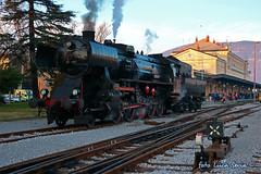 SZ 33 037 a Nova Gorica (equo25) Tags: treno speciale locomotiva vapore sz33 33037 sz33037 nova gorica gorizia transalpina ferrovia railway train steam locomotive eisenbahn lok dampflok sonderzug