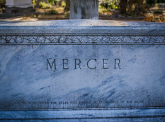 We have loved the stars too fondly to be fearful of the night (Marc_714) Tags: marc714 mercer boneventure cemetery headstone poetrty sarahwwilliams