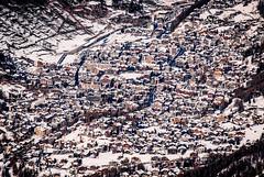 Snow village series - Zoom in (redgoldish) Tags: switzerland zermatt valley village snow snowy faraway far miniature travel trip landscape