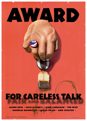 Sopping Wet Tea Bag Award for Careless Talk (Updated 2013 Version)