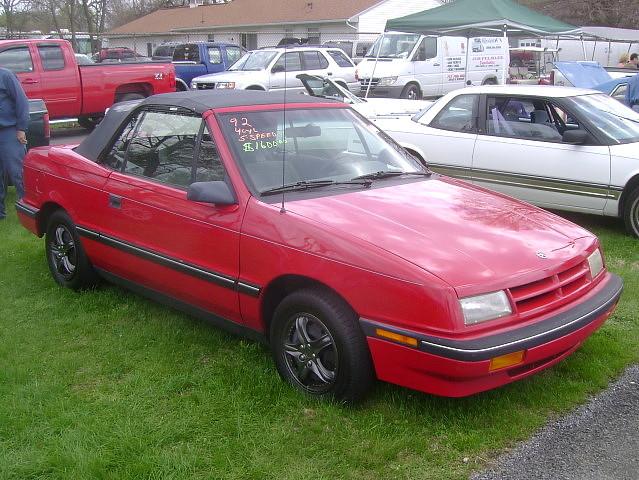 shadow convertible dodge 1992 mopar carlisle carshow carlislepa fwdmopar springcarlisle