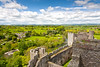 View From Mortimer's Tower (johnwilly) Tags: landscape shropshirecounty ludlowcastle canon5d ef24105lis bwcpl photoshopcs5