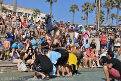 "Backflip! (ScottS101) Tags: shirtless people sun male men beach fun huntington crowd event gymnast buskers acrobat strength busker athletes athlete tumblers gymnasts flyingtortillas ""allrightsreserved"" ""huntingtonbeach""""©2014scottsansenbach"""