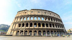 Colosseum (T|Le) Tags: italy vatican rome roma art history church fountain beautiful st skyline night painting landscape artwork ancient memorial italia steps historic colosseum spanish dome moment peters masterpiece