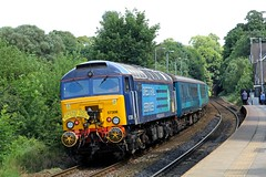 57308 'County of Staffordshire' @ Headingley (TheRosyMole) Tags: railroad yorkshire leeds railway tourdefrance headingley drs directrailservices 57308 countyofstaffordshire