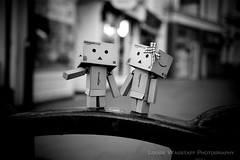 D-Bo & Dani (loulovesdanbo) Tags: stilllife cute blackwhite emotion character expressive emotive danbo danbomini danbophotography