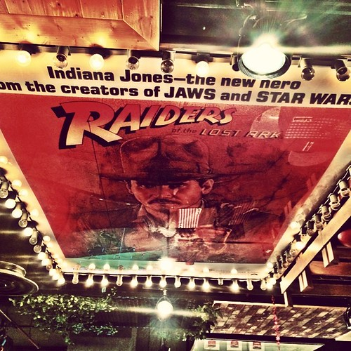 Indiana on the ceiling