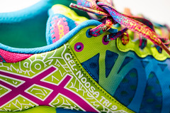 Asics Gel Noosa Running Shoes macro (m01229) Tags: macro colors shoes neon bright asics runningshoes tennisshoes shoelaces gymshoes nikon105mm colros asicsgel