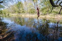 _MG_2285-252 (k.a. gilbert) Tags: reflection water river outside outdoors backyard stream glare bank naturallight handheld fullframe 116 ropeswing uwa tokina1116mmf28 canon5dc mallonshouse sofyasbirthdayparty2014