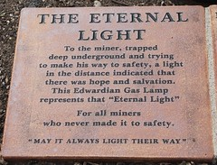 Eternal light (kaylo88) Tags: light lamp dead lost mine remember gone gas forgotten coal eternal nationalminingmemorial